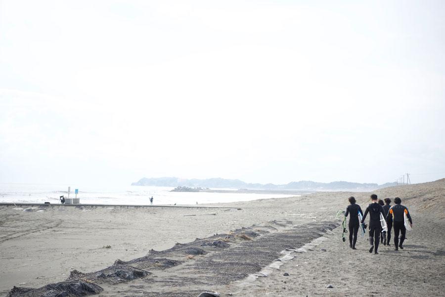 目の前のビーチで