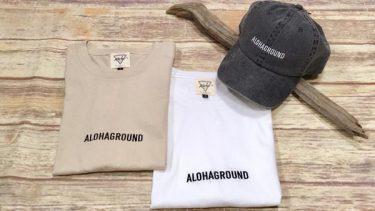 ALOHAGROUND EMB TEE&CAP