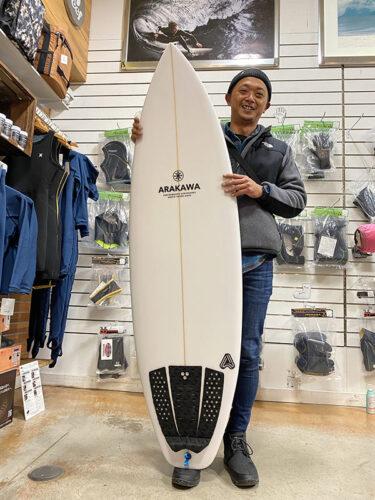 使い勝手のいいショートボードXpresso by ARAKAWA SURFBOARDS